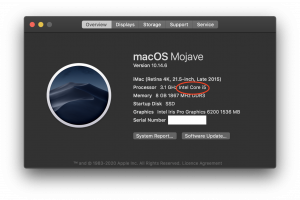 About This Mac Processor