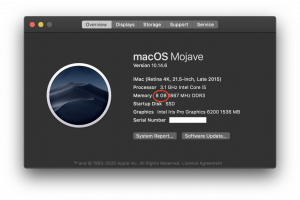 About This Mac RAM